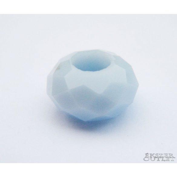 Pandora üveg gyöngy. 14x8mm. Égkék. 10db.