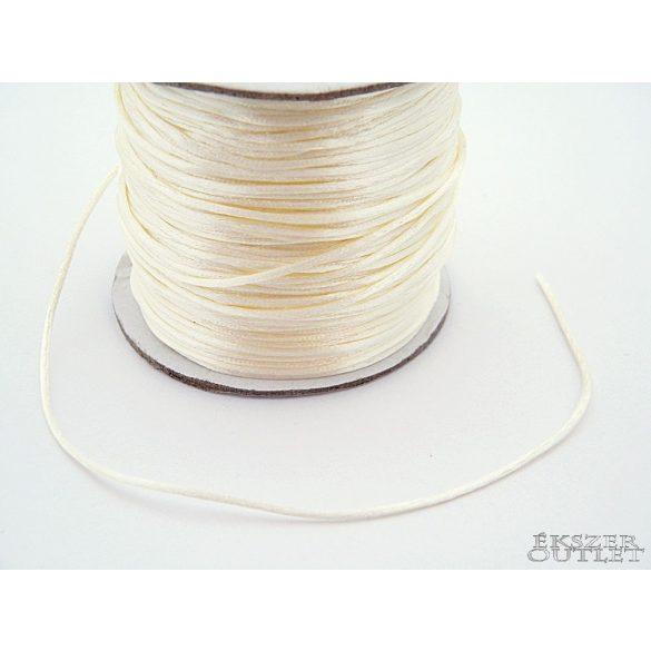Shamballa nylon fonal. 1.5mm. Krém.  72m/db