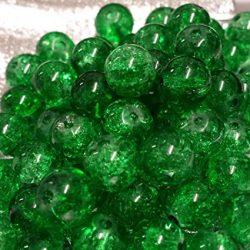 Cseh, roppantott üveggyöngy. 8mm. Smaragd. 20db/csomag.