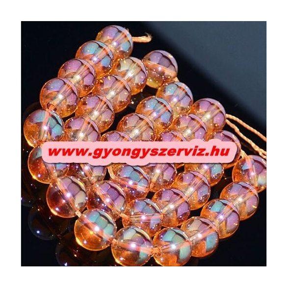 Aura kvarc, aura kristály. Narancs. 8mm.