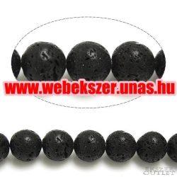 Lávakő gyöngy. 6mm.   1 szál. (kb. 40cm)