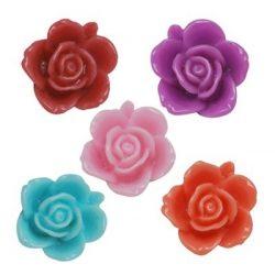 Ragasztható gyanta virág kaboson. 15x7mm. 9 színben. 10db.
