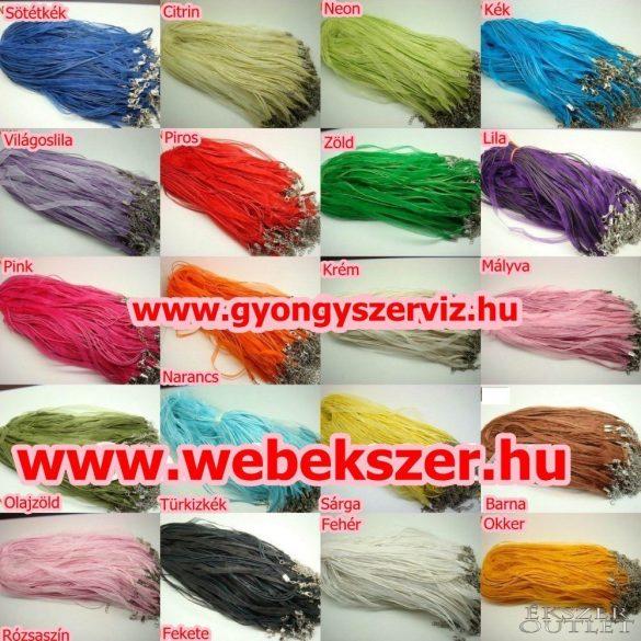 Organza nyaklánc. Nyaklánc alap. 4 szálas. 20 szín. Válassz színt! 10db/csomag.