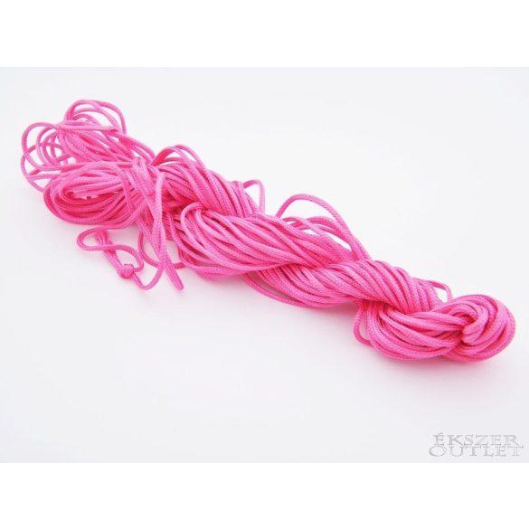Shamballa fonal. Nylon fonal. 1.5mm. 12.5m. Pink.   Legjobb ár!