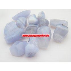 Kék kalcedon ásvány marokkő. 100 gramm/csomag.