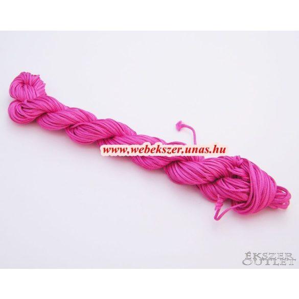 Shamballa fonal. Nylon fonal. 1mm. 25m. Sötét pink.   Legjobb ár!