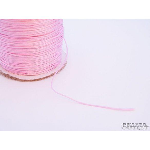Shamballa fonal. Nylon fonal. 0.8mm. Rózsaszín.    90m/db.