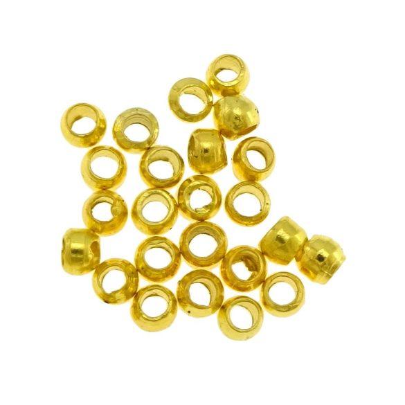 Stopper. Összenyomható rögzítő elem, fémgyöngy. 10g. Arany szín.