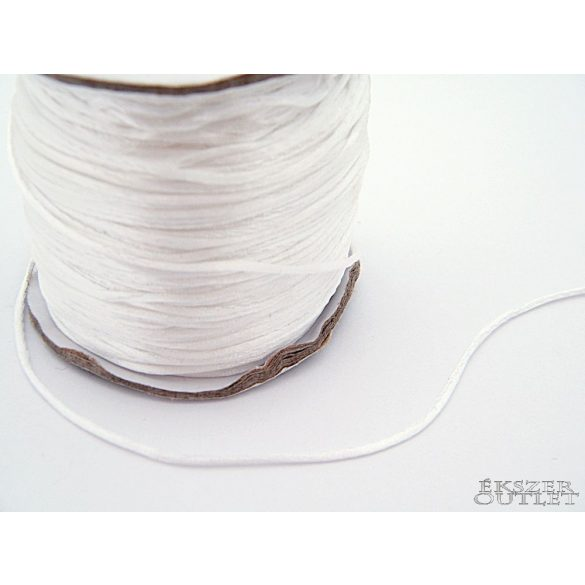 Shamballa nylon fonal. 1.5mm. Fehér.   72m/db