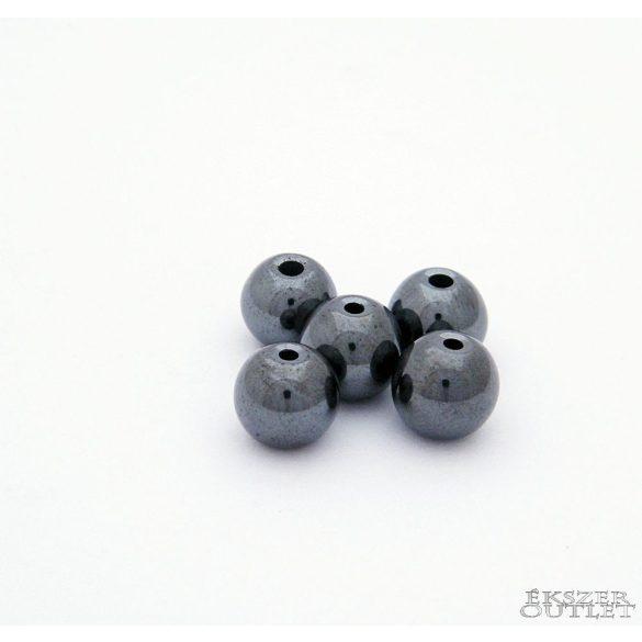 Hematit gyöngy. 8mm. 1 szál. (kb. 40cm)