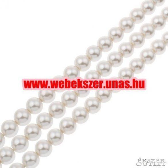 Shell pearl gyöngy. 10mm. Gyöngyház.  1 szál. (kb. 40cm)
