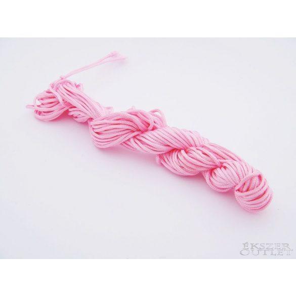 Shamballa fonal. Nylon fonal. 1.5mm. 12.5m. Rózsaszín.