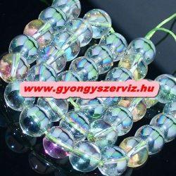 Aura kvarc, aura kristály. Szívárvány. 10mm.