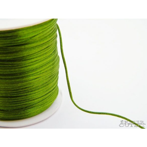 Shamballa fonal. Nylon fonal. 1.5mm. Sötét zöld.  72m/db