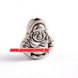 Buddha fém köztes gyöngy. 11x10x5mm. Antik ezüst szín. 10db.