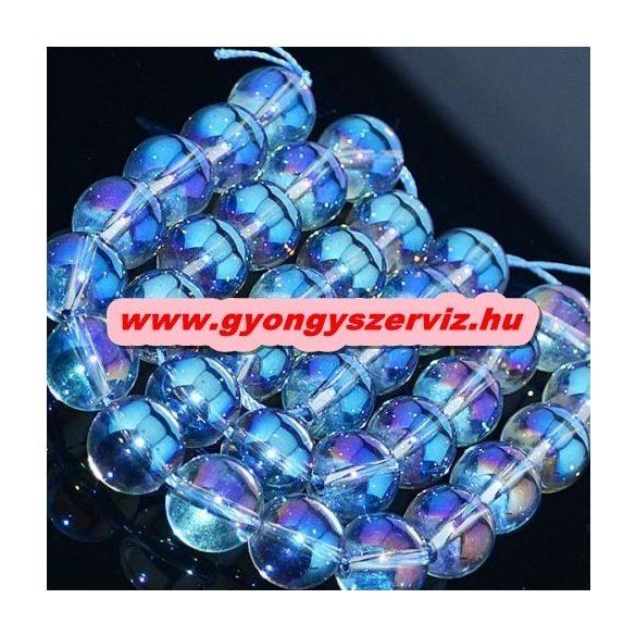 Aura kvarc, aura kristály. Óceán kék. 8mm.