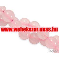 Rózsakvarc gyöngy. 8 mm.  1 szál, kb. 40cm.
