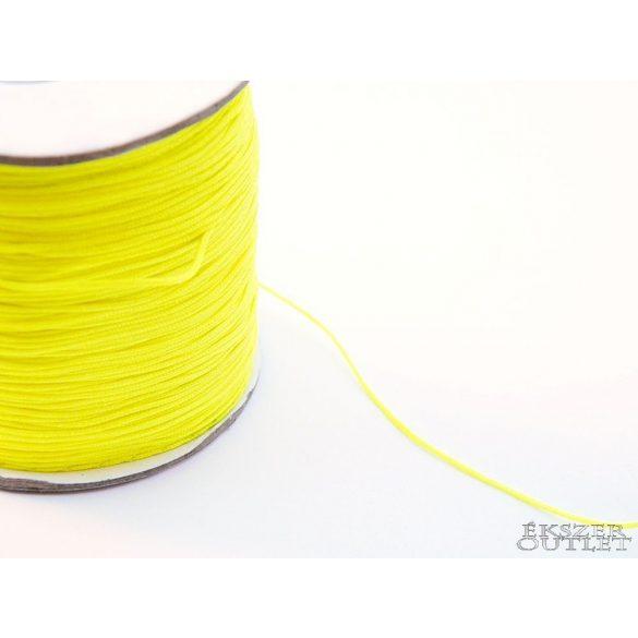 Shamballa fonal. 0.8mm. Neon sárga.   90m/db.