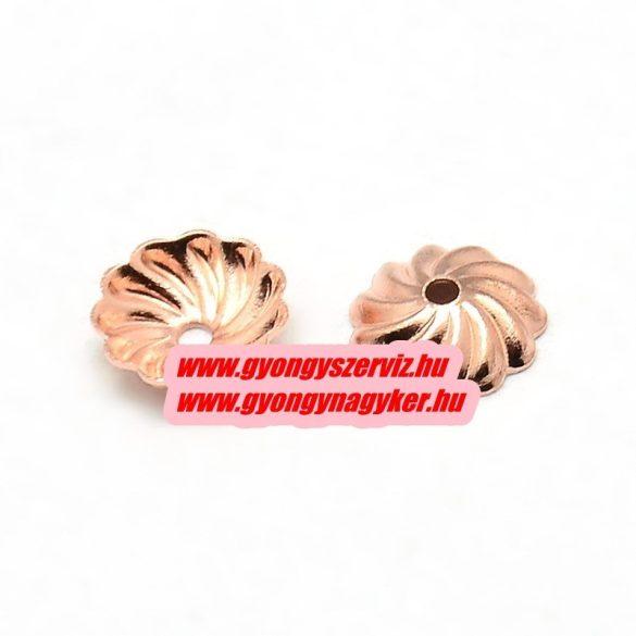 Gyöngykupak.  Rózsaarany szín. 7x2mm.  100db.