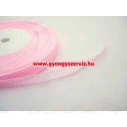 Organza szalag. Rózsaszín. 45m/tekercs.