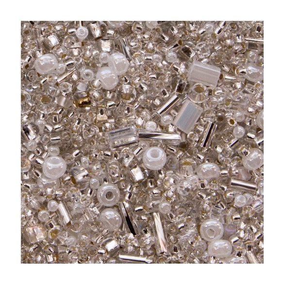 Preciosa fehér - kristály mix. 50g/csomag.