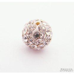 Shamballa gyöngy. Kristály gyöngy. 6mm. Fehér.    10db.