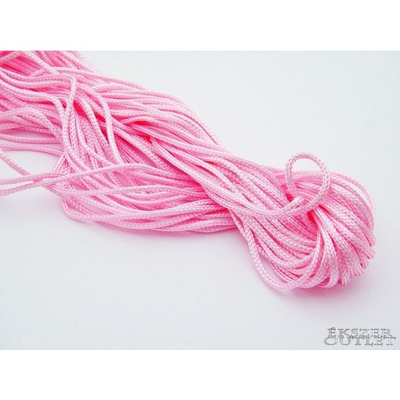 Shamballa nylon fonal. 1.5mm. 12.5m. Rózsaszín.