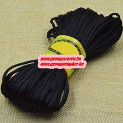 Poliészter fonal. 2.5mm. Kékes fekete. 10m/db.