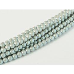 Cseh shell pearl tekla üveggyöngy. 6mm. Ezüst. 100db/szál.