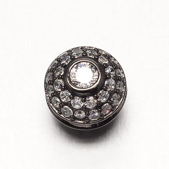 Cirkon kristályos köztes gyöngy. 4 színben!