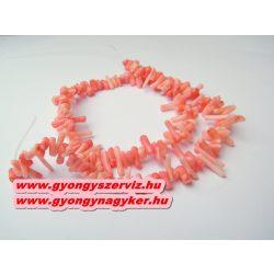 Korall gyöngy. 1 szál. Rózsaszín. 1 szál, kb. 40cm.