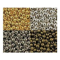 Fémgyöngy, fém golyó köztes gyöngy. 3mm. 100db.  6 színben. Válassz színt!