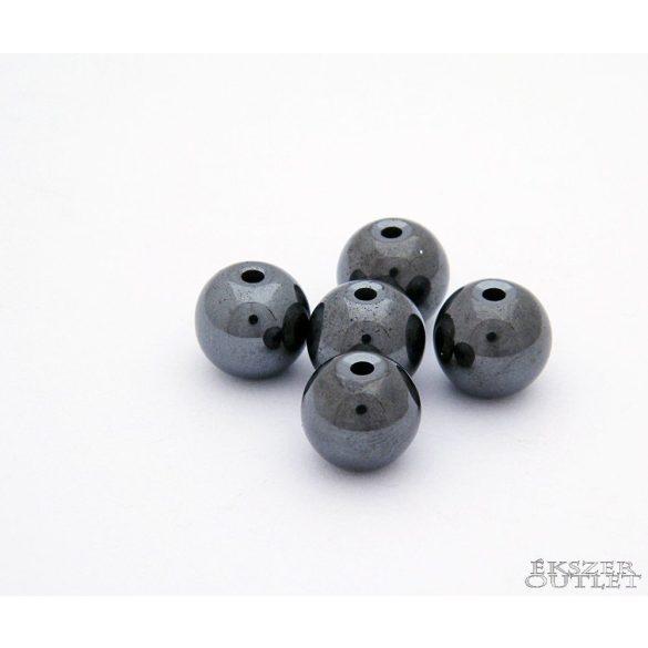 Hematit gyöngy. 10mm . 1 szál. (kb. 40cm)