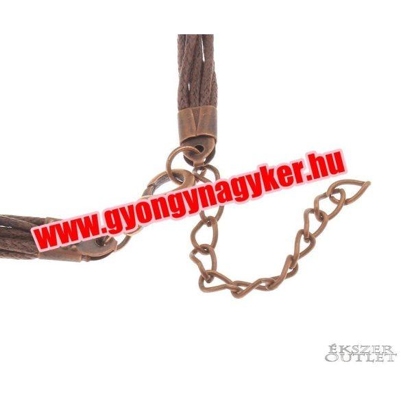 Kord nyaklánc. Viaszolt szál nyaklánc alap. 7 szálas. 2 színben! 10db/csomag.