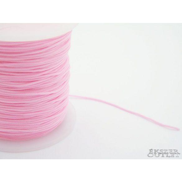 Shamballa fonal. Nylon fonal. 1mm. Rózsaszín.   90m/db.