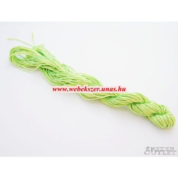 Shamballa fonal. Nylon fonal. 1mm. 25m. Világos zöld.   Legjobb ár!