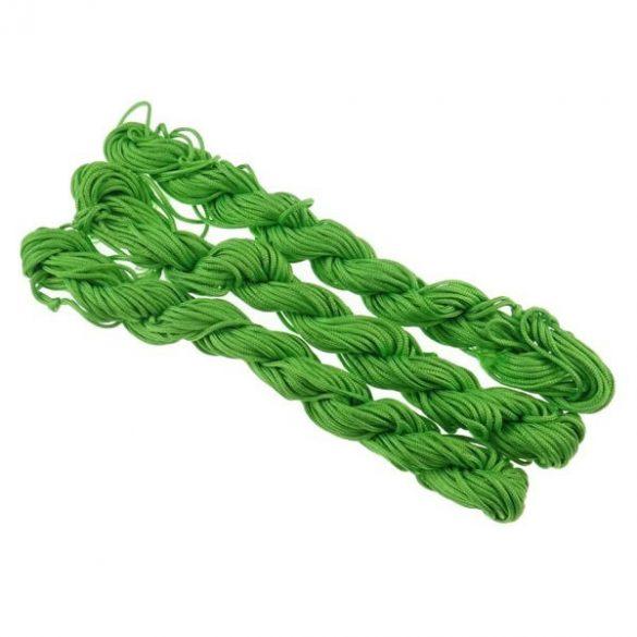 Shamballa fonal. Poliészter fonal. 1.5mm. 12.5m. Zöld.