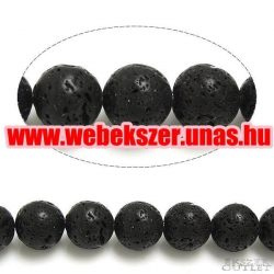 Lávakő gyöngy. 10 mm.  1 szál. (kb. 40cm)