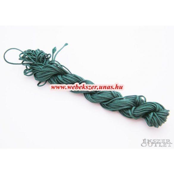 Shamballa fonal. Nylon fonal. 1.5mm. 12.5m. Smaragdzöld.