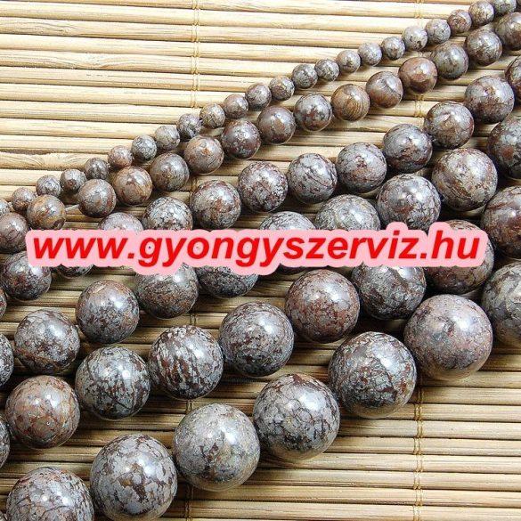 Kávé jáspis ásványgyöngy, féldrágakő gyöngy. 8mm. 1 szál, kb. 40cm.