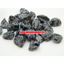 Hópehely obszidián ásvány marokkő. 100 gramm/csomag.