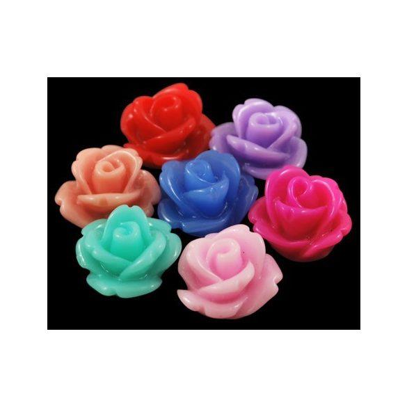 Ragasztható gyanta virág kaboson. 10x6.5 mm. 10db.