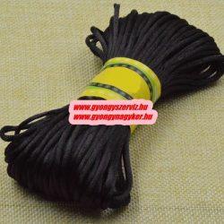 Poliészter fonal. 2.5mm. Fekete. 10m/db.