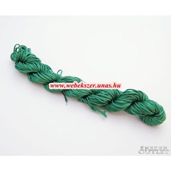 Shamballa fonal. Nylon fonal. 1mm. 25m. Smaragd zöld.   Legjobb ár!