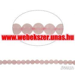 Rózsakvarc gyöngy. 10 mm. 1 szál, kb. 40cm.