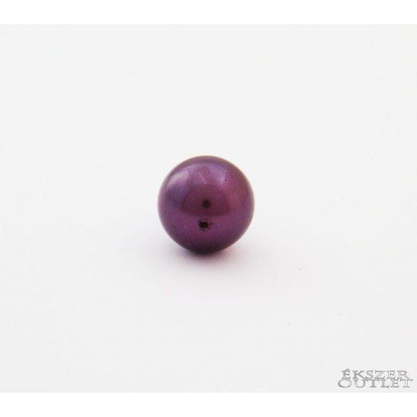 Shell pearl gyöngy. 10mm. Padlizsán. 1 szál. (kb. 40cm)