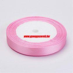 Szatén szalag. 12mm. Rózsaszín. 45m/tekercs.