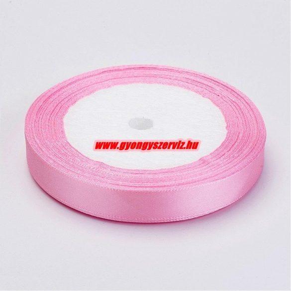 Szatén szalag. 12mm. Rózsaszín.