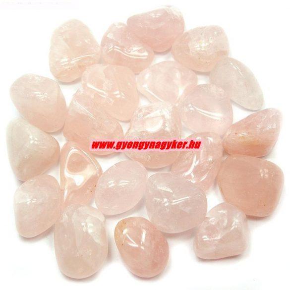 Rózsakvarc ásvány marokkő. 100 gramm/csomag.