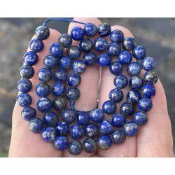 Lapis lazuli ásványgyöngy. 10mm. 1 szál, kb. 40cm.